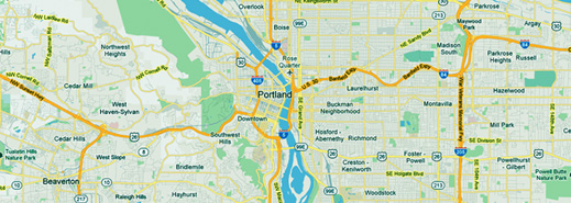 Cash for Cars Portland map